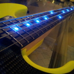 HAND MADE - Electric instruments_jazz 4 strings Tumb-Yellow - LED (9)
